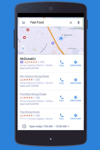 Promoted Search Ads Maps