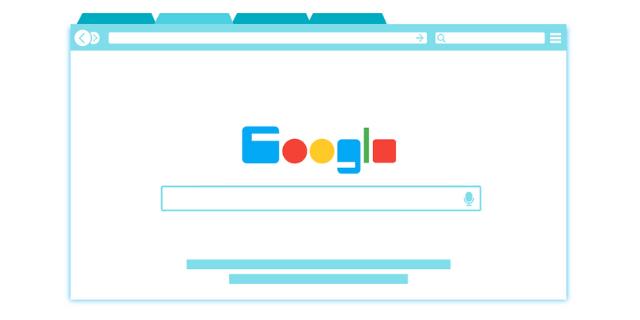 Google seo news animated browser window with tab opened