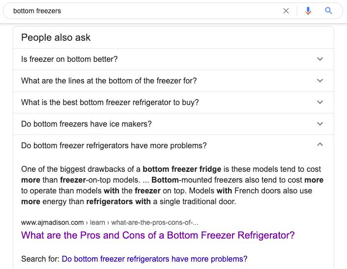Bottom Freezer SERP